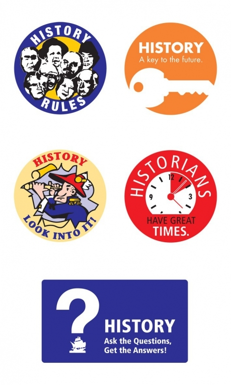 Small History Stickers - Click to enlarge picture.